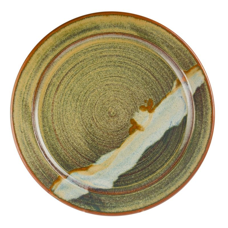 a large, green serving platter