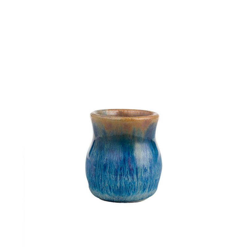 a petite, blue jar