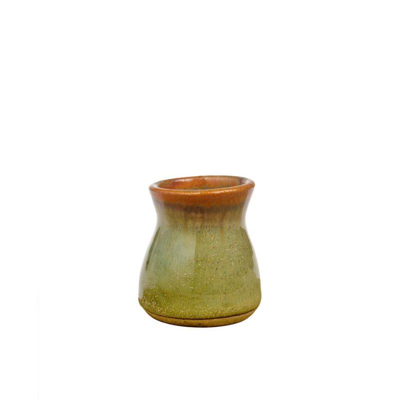 a petite, mint green jar