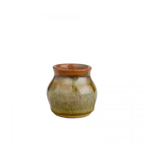 a petite, green jar
