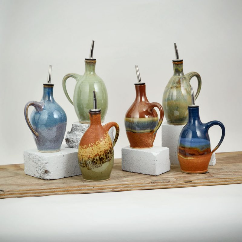 group shot of oil bottles in 6 different patterns