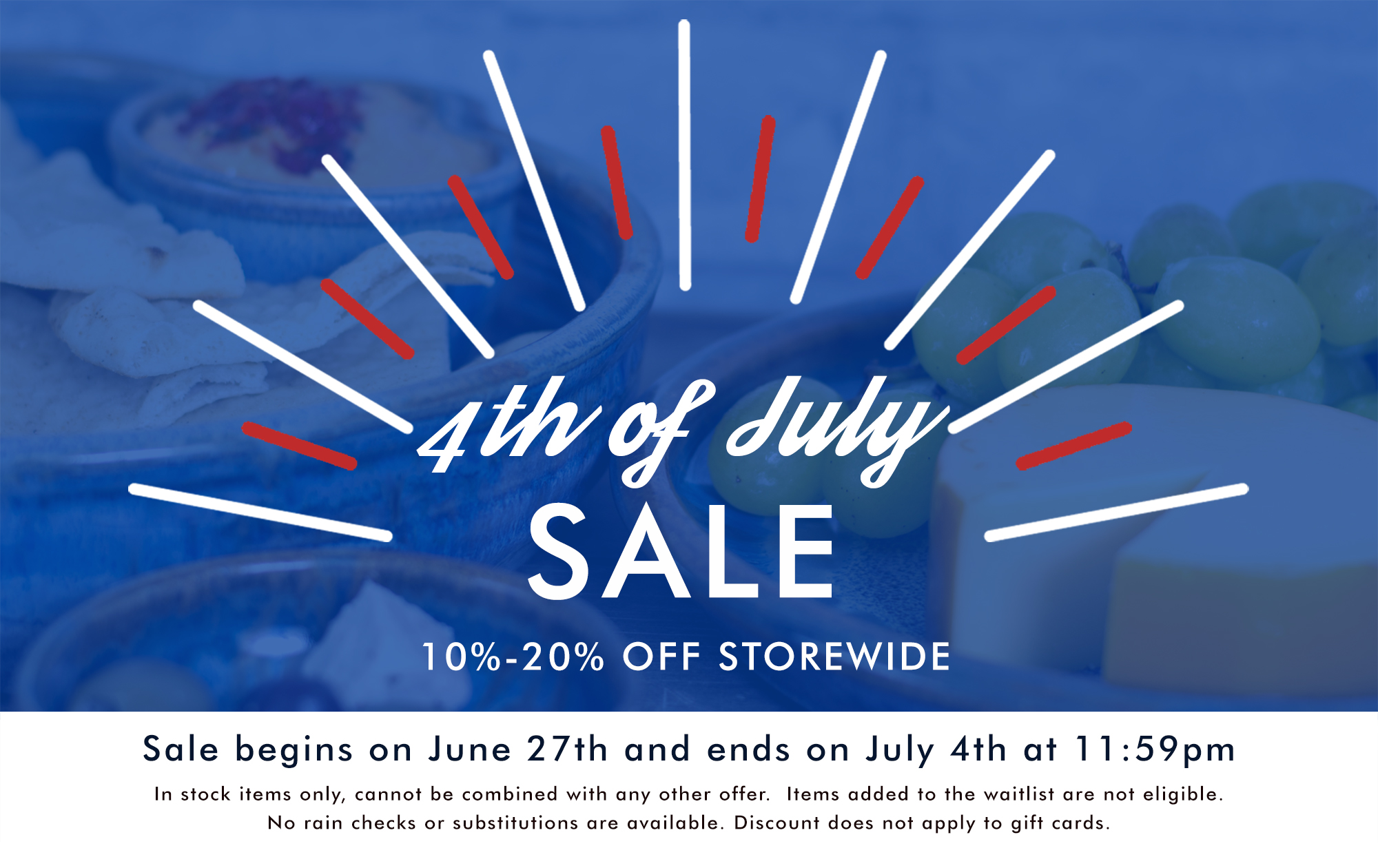 July 4th Pottery Sale